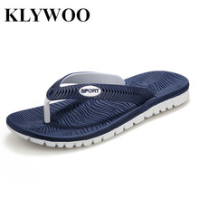 KLYWOO Plus Size 45 New Summer Men Sandals Fashion Breathable Beach Slippers Flip Flops EVA Massage Slippers For Men's Sandals