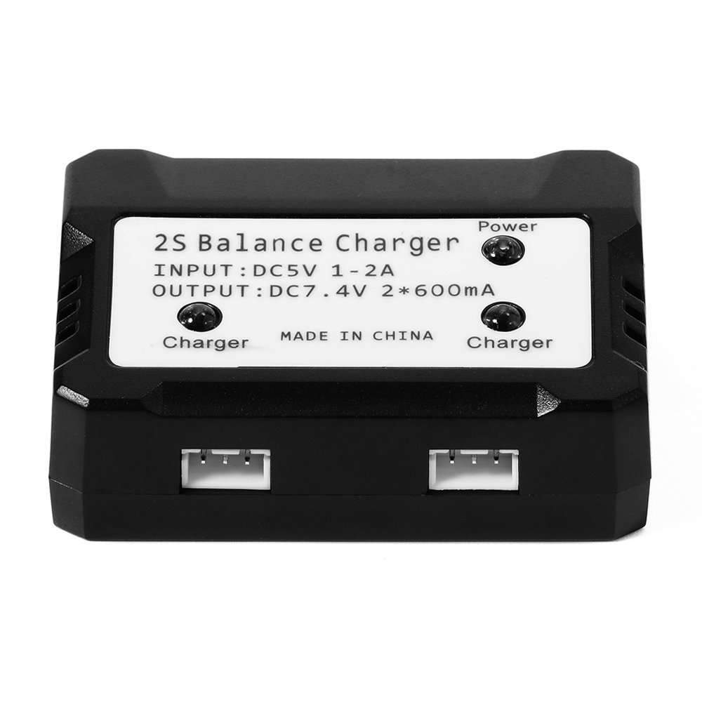 EBOYU(TM) 7.4V 2700mAh 10C Lipo Battery + 2 in 1 Battery Balance Charger for Hubsan H501S H501C RC Quadcopter Drone