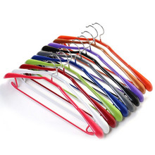 10pcs/lot Portable Anti-slip Plastic Clothes Hanger Thickened Traceless Hangers Adult Coat Pants Skirt Drying Rack