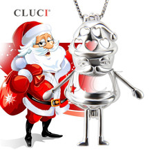 Buy CLUCI FINE jewelry Sterling Silver ChristmasSanta Claus Cage Pendant DIY Jewelry, Christmas charms/gifts for $17.70 in AliExpress store