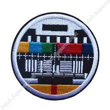 "3"" RETRO Vintage TV TEST CARD patch 50% off for 10 lots Round Embroidered IRON ON SEW ON Cool Biker Vest transfer Badge clothing"