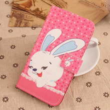 Exyuan  Fashion Pop PU Leather Cover Magnet Wallet Mobile Phone Case For BQ Aquaris U Plus 5''