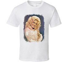 464f03f30a0 Dolly Parton 70s Celebrity Icon Sexy Vintage Worn Look T Shirt Short Sleeve  Casual Printed Tee
