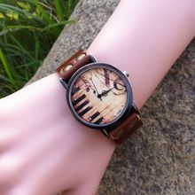 New Arrival Music Note Genuine Leather Women Men Watches Trend Montre Personality Gift Clock reloj dama