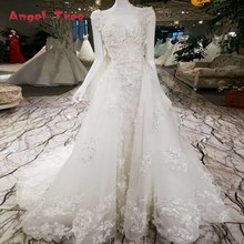Buy Angel Tree Luxury wedding dress detachable train lace beading line lace lace bridal wedding gowns removable train for $360.66 in AliExpress store