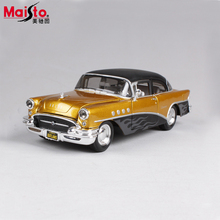 Maisto 1955 Buick Century 1:24 Scale Diecasts & Toy Vehicles Alloy Vintage Car Model High Quality Classic Car Collection Gift