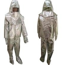 FREE SHIPPING heat resistant Can Resistant 500 degree Aluminized Anti fire heat resistant suits heat roof clothing