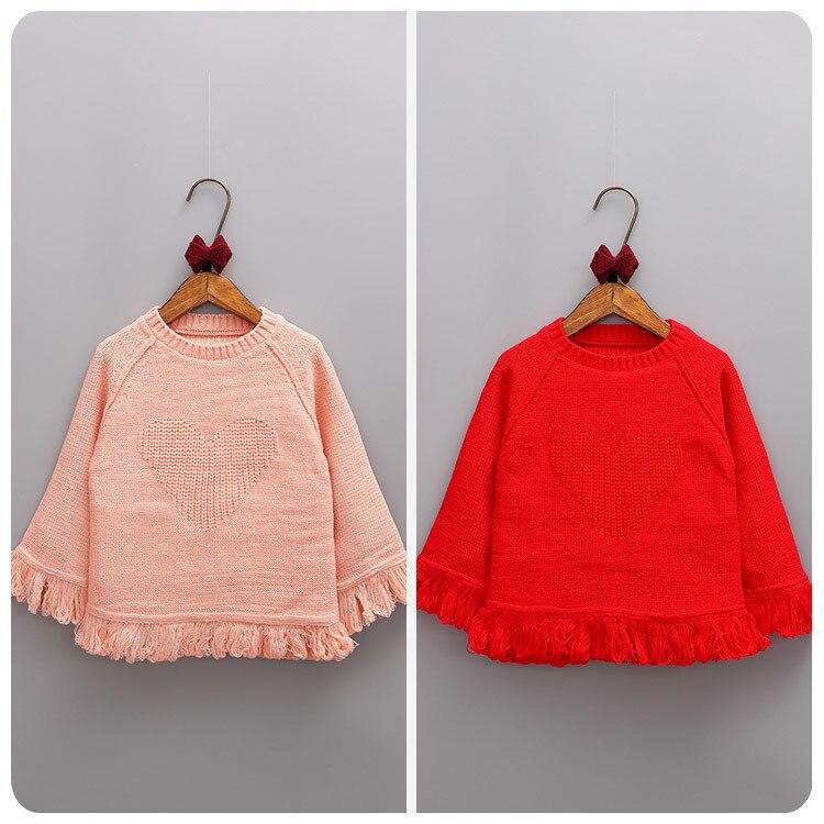 2017 Korean Girl Childrens Garment Autumn New Pattern Girl Baby Tassels Skirt Sweater Lady Jacket Pullover Unlined Garment<br><br>Aliexpress