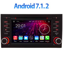 Android 7.1.2 Car Radio GPS Navigation Multimedia Car DVD Player BT 2Din 7'' For AUDI A4 S4 RS4 8E 8F B9 B7 RNS-E 2002-2008(China)