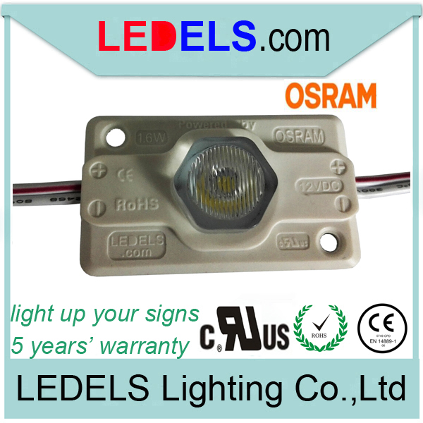 600pcs/lot , 12v 1.6w 120LM edge lit lightbox led module high power for