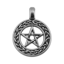 Minimal Religious Items 50 Pieces Metal Zinc Alloy Vintage Pentagram Jewish Charms Jewelry(China)