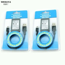 10 Pcs With Package Replacement 1800mAh Battery Power Supply+USB Data Charger Cable Cord Pack For Playstation 3 For PS3 Console