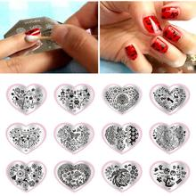 Nail Art DIY Print Stamp Template Heart Nails Image Stencil Stamp Plates Polish Design Nail Art Tool 12 Types for Choose(China)