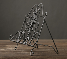 collalily Nordic Modern Magazine Newpaper Storage Basket Vintage Industrial Style Metal Wire Holder table decoration