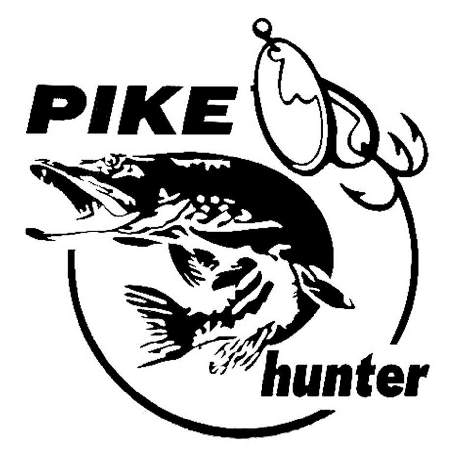 Cunymagos 13.3cm14cm Pike Hunter Fish Animal Car Sticker Vinyl Decal Decor (1)