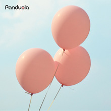 Panduola Light Pink Latex Balloons 30pcs 10inch Thicken 2.2g Birthday Party Decor Wedding Party Ballons Matte Color Globos(China)