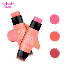 Qdsuh Peach Beautifying Blusher Cream Blush Makeup Brush Cheek Foundation Face Cosmetic Natural Palette Lipstick Eyeshadow Balm(China)