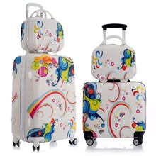 Lovely Adults Kids Suitcase Rolling Luggage Set Spinner Children's Suitcases Carry On Luggage Trolley Travel Bag Boarding Box