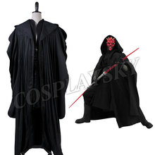 Star Wars Darth Maul  Robe Cosplay Costume Black Tunic Man Cloak Set Halloween Uniform