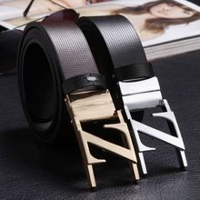 Buy Free Brief classic z letter buckle genuine leather belt male belt double faced rotating for $12.16 in AliExpress store