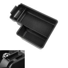 1pc Plastic Center Console Armrest Organizer Storage Box Tray Container For Golf 6 2012-2014