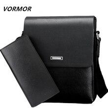 VORMOR Men bag 2018 casual mens messenger bags, high quality PU leather shoulder bag + wallet men's travel bags