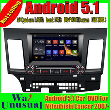 HD 8'' Pure Android 5.1.1 Car DVD Player for Mitsubishi Lancer EX 2007-( Singapore, Sri Lanka, Philippines & Middle East) Free