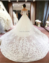G12122 New Style Custom Made Appliques Boat Neck Luxury A-line Wedding Dresses Bridal Dresses vestido de novia Plus Size