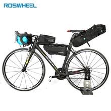 Roswheel Bicycle Triangle Bag MTB Road Bike Frame Bag Pannier Cycling Accessories Bike Rack Storage Folding Bicycle Carrier Bags