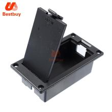 10 pcs 9V Battery Box/Holder/Case Compartment Cover With 9 Volt Battery Clip Buckle for Active Guitar Bass Pickup