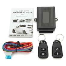 Universal Alarm Systems Car Auto Remote Central Kit Door Lock Locking Vehicle Keyless Entry System New With Remote Controllers