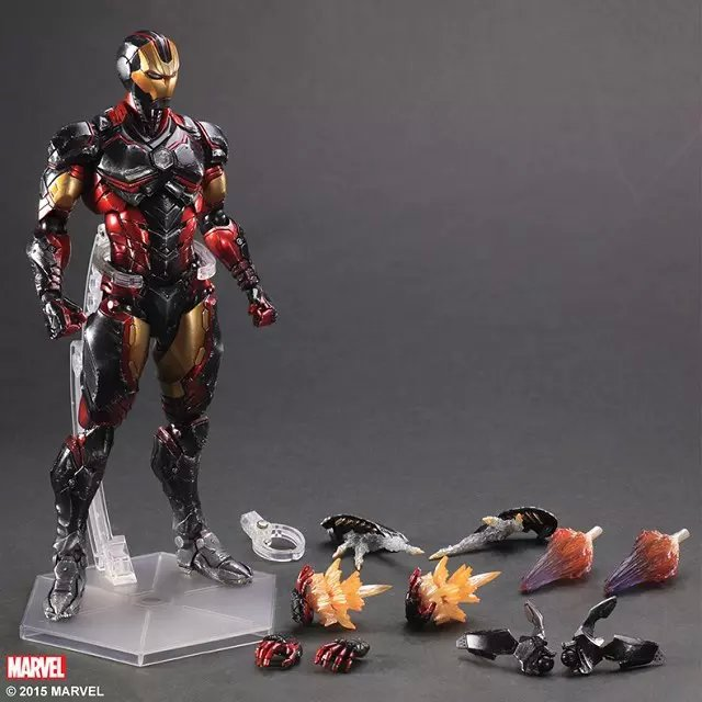 Play Arts Kai Iron Man Super Hero Age of Ultron Tony Stark Hulkbuster PA 26cm PVC Action Figure Doll Toys Kids Gift Brinquedos<br>