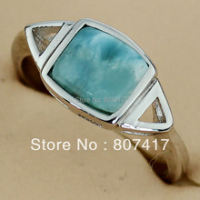 Fashion RING Larimar Casual  jewelry Silver Plated Favourite Hot Cute R3531 sz#6 7 8 9 Best Sellers Time limited discount Fancy