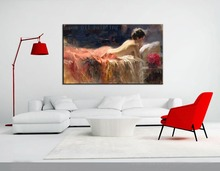 Hand-painted Sexy Lady Nude Figure Painting Top Quality Fine Art Handmade Modern Naked Back Oil Painting on Canvas Wall Artwork(China)