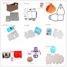 GIFT BOX Metal Cutting Dies Stencils for DIY Scrapbooking/photo album Decorative Embossing DIY Paper Card(China)