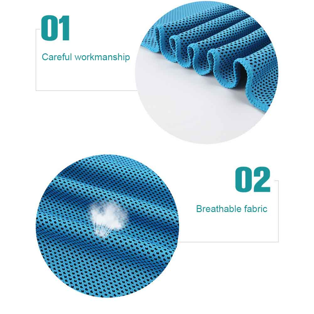 1-2Pcs Ice Cold Instant Cooling Towel Running Jogging Gym Chilly Pad Sports Yoga