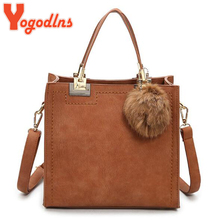 Yogodlns Luxury Women Handbags High Quality Leather Bag Big Solid Scrub Female Shoulder Bags Large Capacity Crossbody Tote Bag