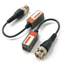 One Pair Passion BNC Video Balun for Security CCTV Cameras via CAT5e(China)
