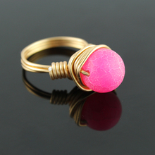 Gold wire wrapped  ring Handmade gold Ring,Fashion unique girl gift natural stone jewelry female ring