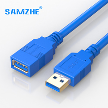 SAMZHE USB3.0 Extension Cable 5Gbps Speed USB Cable Plug and play USB3.0 Cable Extender Male to Female USB3.0 High Speed Cable(China)