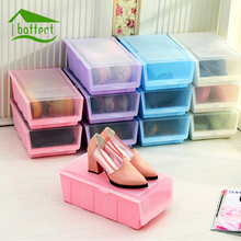Thickened Single Layer Plastic Storage Box Organizer Colorful Toys Makeup Kitchen Shoes Storage Box Case Combined Drawer Cabinet(China)
