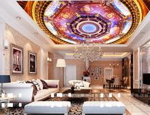 ceiling murals wallpaper customize 3D stereoscopic ceiling photo wallpaper Red Dream non-woven 3d wallpaper for ceiling