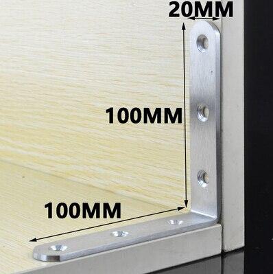 Custom decorative 90 degree corner bracket for bed frame, 100mm ...