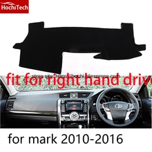 For toyota Mark x Reiz right hand drive dashboard mat Protective pad black car-styling Interior Refit Sticker Mat products(China)