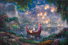 Thomas Kinkade Anime Oil Painting Art Print On Canvas Tangled Home Decoration Wall Art Free Shipping