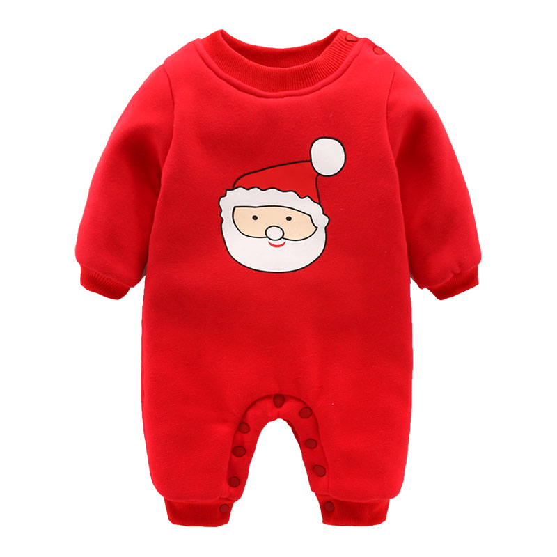 The newborn baby clothes Winter Christmas Romper 0-3 months cotton padded clothes baby clothing<br><br>Aliexpress