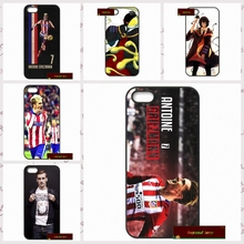 Antoine Griezmann France Soccer Star Phone Cases Cover For iPhone 4 4S 5 5S 5C SE 6 6S 7 Plus 4.7 5.5    AM169