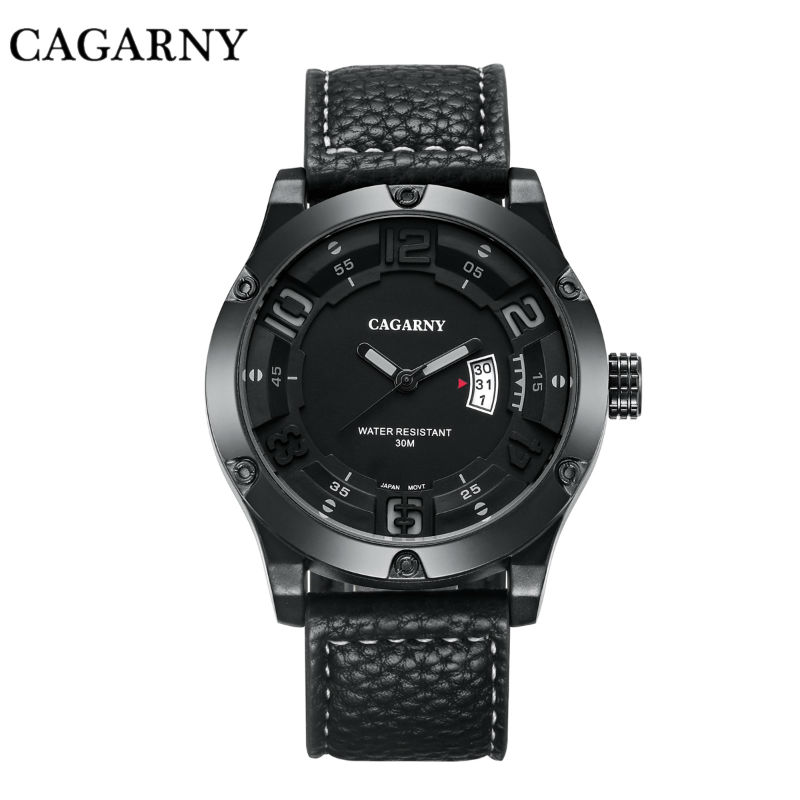 Relojes Hombre 2017 New Fashion Mens Watch Leather Watch Quartz Watch Business Leisure Sports Military Watch Relogios Masculino<br>