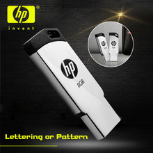 HP USB Flash Drive 8gb pendrive Metal cle usb V236w 16G 32gb Flash memory Stick personalized diy logo usb disk 8GB pendrives