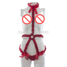 Buy Adult Games Sex Rope Set Sexy Red Body Bondage Rope